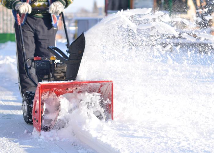 Snow blowing service Boston